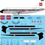 STS44326 BEA Red Square Airbus A319-131 Screen printed decal