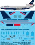STS44179 British Airways Landor McDonnell Douglas DC-10-30 screen printed decal