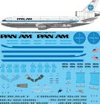 STS44337 Pan Am McDonnell Douglas DC-10-30 screen printed decal