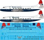 STS44128 British Airways Vickers Viscount 800 Screen printed decal